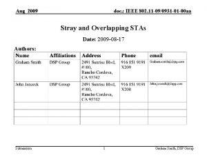 Aug 2009 doc IEEE 802 11 090931 01