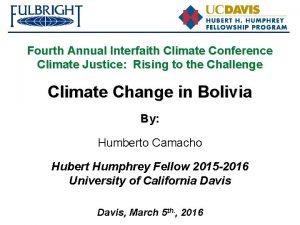Fourth Annual Interfaith Climate Conference Climate Justice Rising