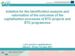 Ce document est cofinanc par lUnion europenne LEurope
