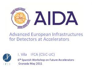 Advanced European Infrastructures for Detectors at Accelerators I