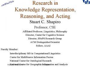 alo f buf cse Research in Knowledge Representation
