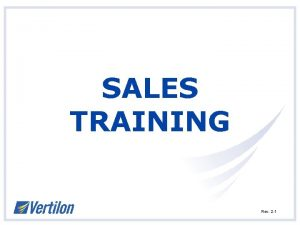 SALES TRAINING Rev 2 1 PRODUCTS Rev 2