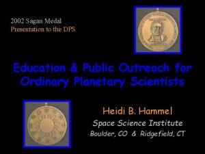 2002 Sagan Medal Presentation to the DPS Education