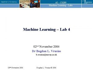 AI CS 289 Machine Learning Labs Machine Learning