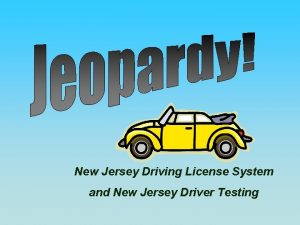 New Jersey Driving License System and New Jersey