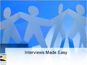 Interviews Made Easy Overview of talk Interviews explained