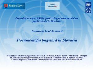 Dezvoltarea capacitilor pentru bugetarea bazat pe performan n
