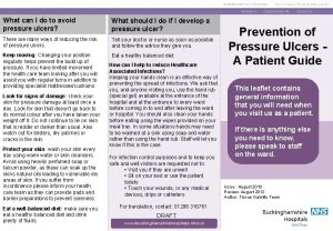 What can I do to avoid pressure ulcers