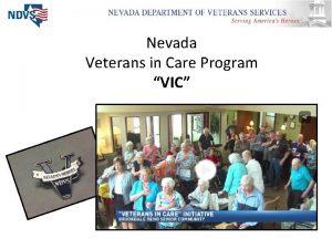 Nevada Veterans in Care Program VIC Problem Less