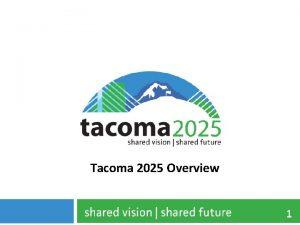 Tacoma 2025 Overview 1 Tacoma 2025 Framework 2
