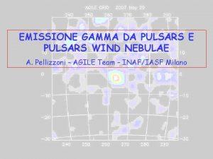 EMISSIONE GAMMA DA PULSARS E PULSARS WIND NEBULAE