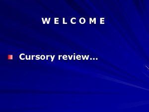 WELCOME Cursory review Title Reducing Domestic Violence Public