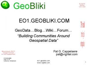 Geo Bliki EO 1 GEOBLIKI COM Geo DataBlogWikiForum