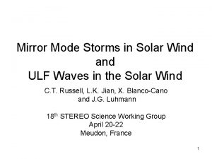 Mirror Mode Storms in Solar Wind and ULF