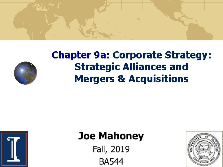 Chapter 9 a Corporate Strategy Strategic Alliances and