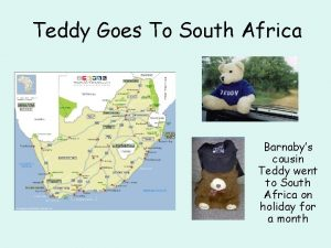 Teddy Goes To South Africa Barnabys cousin Teddy