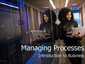 Managing Processes Introduction to Business Operations Management Operations