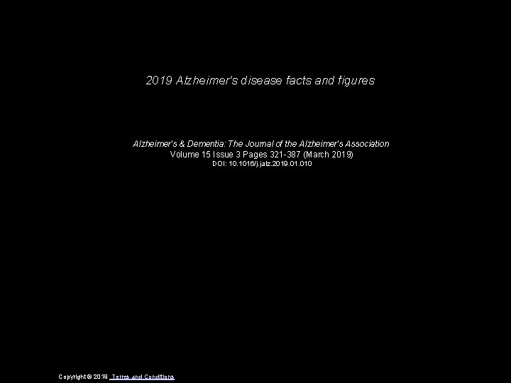 2019 Alzheimers disease facts and figures Alzheimers Dementia