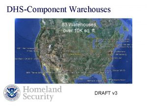 DHSComponent Warehouses 83 Warehouses over 10 K sq