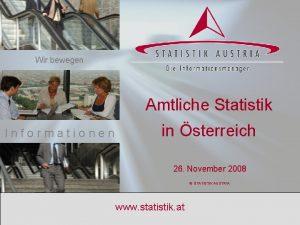 Wir bewegen Amtliche Statistik in sterreich Informationen 26
