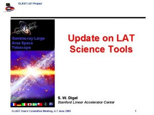GLAST LAT Project Update on LAT Science Tools