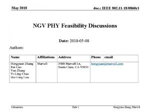 May 2018 doc IEEE 802 11 180860 r