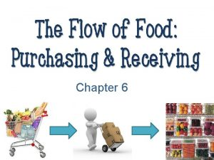 Chapter 6 Food must be purchased from an
