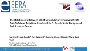 The Relationship Between STEM School Achievement And STEM