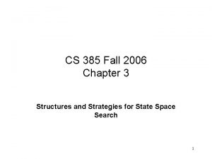 CS 385 Fall 2006 Chapter 3 Structures and