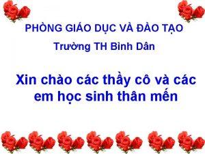 PHNG GIO DC V O TO Trng TH
