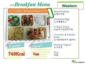 25 Breakfast Menu Main Bread Pudding Western Bread