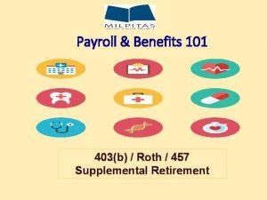 Payroll Benefits 101 403b Roth 457 Supplemental Retirement