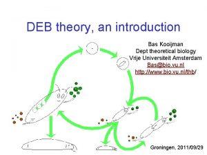 DEB theory an introduction Bas Kooijman Dept theoretical