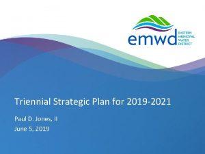 Triennial Strategic Plan for 2019 2021 Paul D