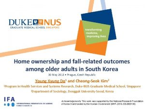 Home ownership and fallrelated outcomes among older adults