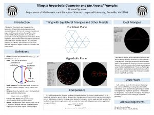 Tiling in Hyperbolic Geometry and the Area of