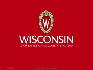 10122016 University of WisconsinMadison Supporting Partners Over Time