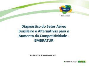 Diagnstico do Setor Areo Brasileiro e Alternativas para