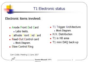 T 1 Electronic status Electronic items involved n