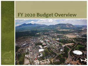 FY 2020 Budget Overview Budget Process Flowchart City