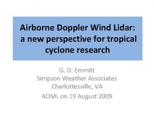 Airborne Doppler Wind Lidar a new perspective for