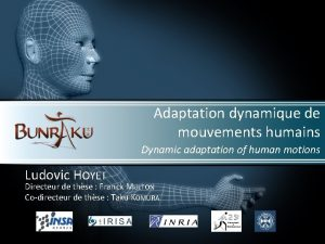 Adaptation dynamique de mouvements humains Dynamic adaptation of