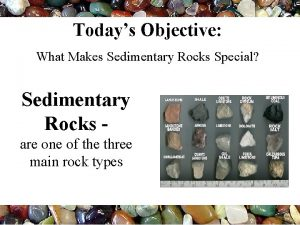 Todays Objective What Makes Sedimentary Rocks Special Sedimentary