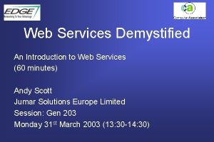 Web Services Demystified An Introduction to Web Services