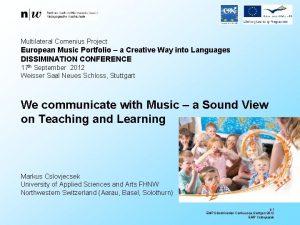 Multilateral Comenius Project European Music Portfolio a Creative