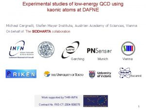 Experimental studies of lowenergy QCD using kaonic atoms