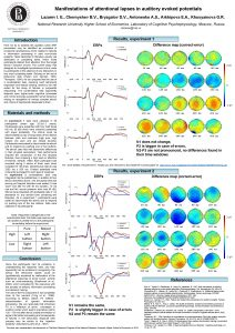 Manifestations of attentional lapses in auditory evoked potentials