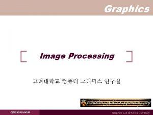 Graphics Image Processing cgvr korea ac kr Graphics