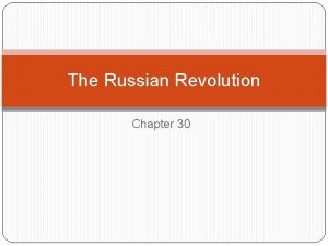 The Russian Revolution Chapter 30 March 1917 strikes