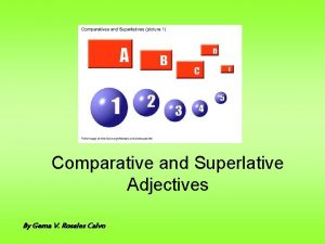 Comparative and Superlative Adjectives By Gema V Rosales